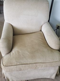 Beige Chenille Chair for Sale in Port Orchard,  WA