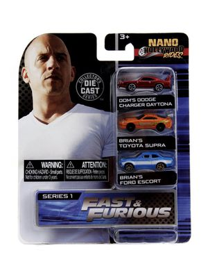 Jada Nano Fast & Furious 3 Piece Set Hollywood Rides Series 1 for Sale in Anaheim, CA