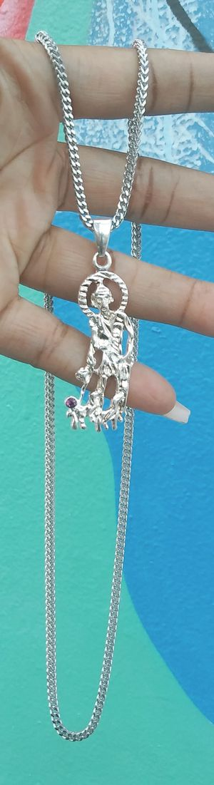 🚚💨I deliver🚀I Ship...😍😍💎White Gold plated 💦3mm Necklace and charm🌟🌟🌟🌟🌟 for Sale in Hollywood, FL
