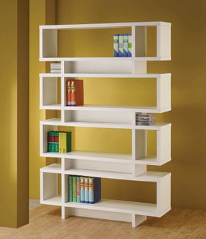 Contemporary White FINISH Bookcase DISPLAY CABINET for Sale in Temecula, CA
