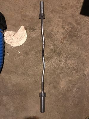 Olympic 15lb curling bar for Sale in Winfield, IL