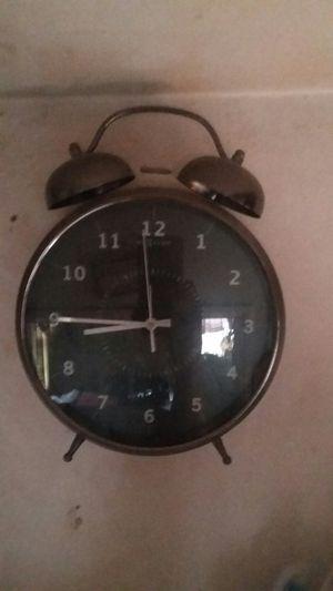 Beautiful antiquarian alarm clock black metallic for Sale in Torrance, CA