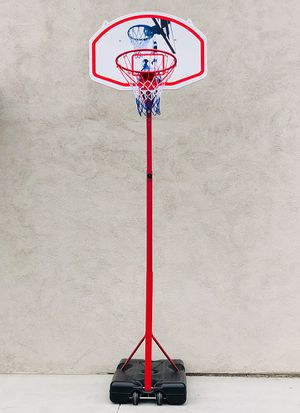 "New $75 Basketball Hoop w/ Stand Wheels, Backboard 32""x23"", Adjustable Rim Height 6' to 8' for Sale in El Monte, CA"
