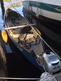 CANOE OUTRIGGER SET (yellow) NEW CONDITION for Sale in Sanford,  FL