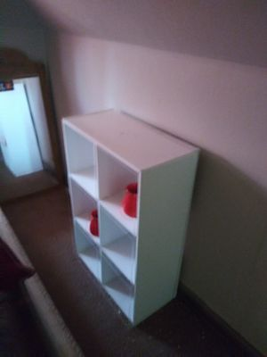 Small white book shelf for Sale in Chicago, IL