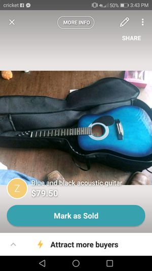Johnson blue and black guitar for Sale in Joplin, MO