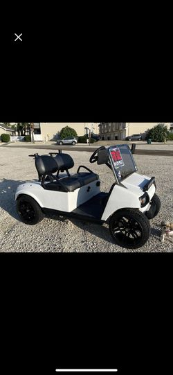 Club cart aluminum frame, black rims & tires, with Led head lights. for Sale in San Antonio,  TX