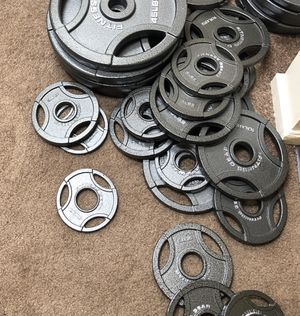 Olympic weight plates for Sale in Groton, CT