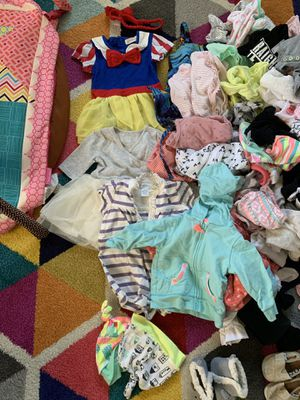 baby girls clothing szs 0-3 3-6 months and accessories for Sale in Cabazon, CA