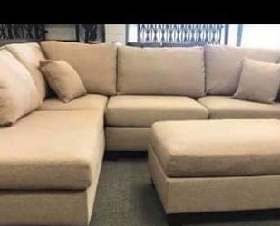New Beige Sectional Couch Only $50 Down Payment for Sale in Rancho Palos Verdes,  CA