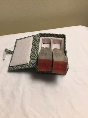 Vintage jade or soapstone stamp set for Sale in Fairfield, IA