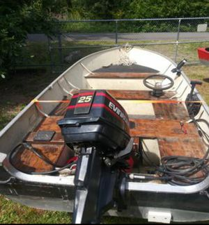 Lund, 25hp motor, and trailer for Sale in Tacoma, WA