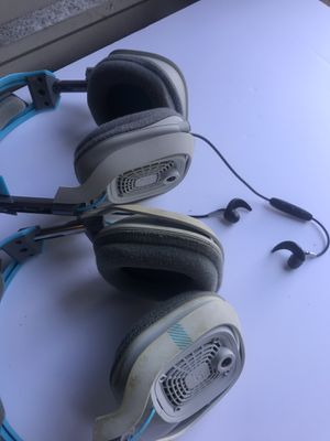 TWO USED ASTRO A40 HEADPHONES NO MIC OR CABLES for Sale in FL, US