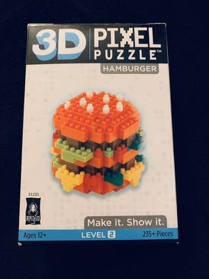 3D Hamburger Pixel Puzzle for Sale in Colorado Springs, CO