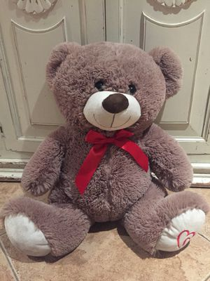 Large teddy bear stuffed animal kids toy gift heart bow for Sale in Claremont, CA