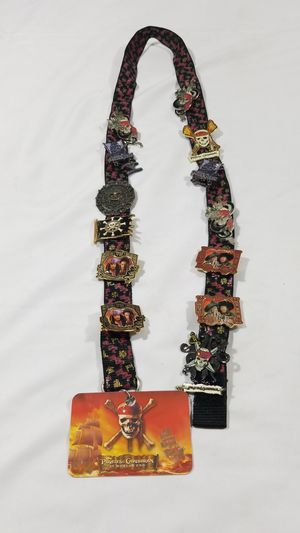 13 Disney Pirate of the Caribbean collectors pins and lanyard for Sale in Winter Springs, FL