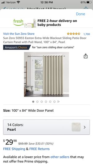 """100"""" x 84"""" blackout curtain. Perfect for French doors. for Sale in San Diego, CA"""