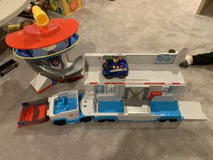 Paw patrol semi and look out play set. for Sale in Schaumburg, IL