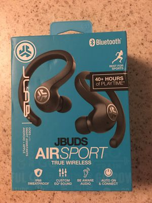 JBUDS air sport true wireless earbuds for Sale in Glendale, AZ