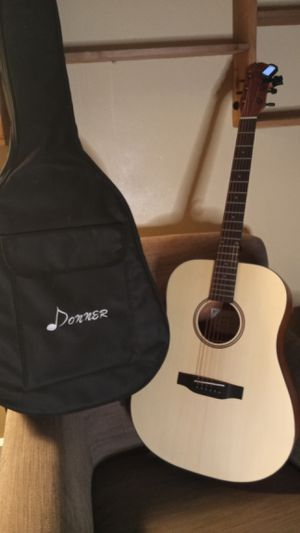 Donner DAG-1 Acoustic Guitar Full-size,41'' Dreadnought Spruce Guitar Package with Gig Bag and Tuner for Sale in Portland, OR