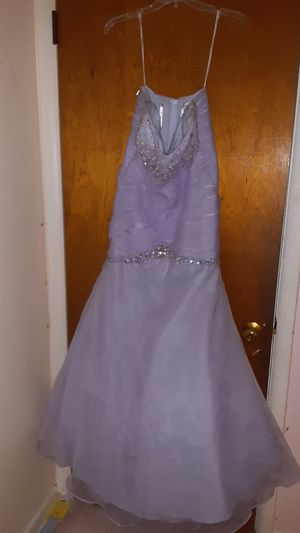 lavender mermaid dress with fluffy tool for Sale in Philadelphia, PA