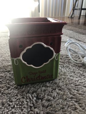 Christmas Scentsy warmer, chalkboard Xmas countdown warmer discontinued for Sale in Riverside, CA
