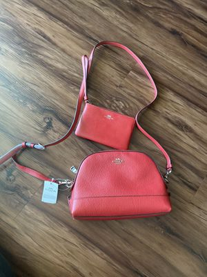 Coach crossbody red set for Sale in Arlington, TX