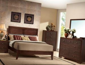 BEAUTIFUL QUEEN BEDROOM SET WITH HUGE DRESSER ALL NEW for Sale in Austin, TX