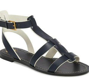Tory Burch-Patos Navy Gladiator Sandals, Size 10-EUC for Sale in Chula Vista, CA