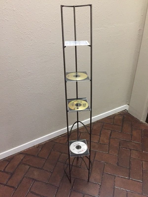 STURDY METAL CD TOWER for Sale in Dallas, TX - OfferUp