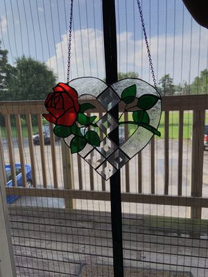 Stained glass heart (handmade) for Sale in Moline, IL