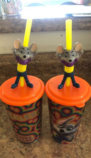 Chuck E Cheese cups with bendy straw for Sale in South Gate, CA