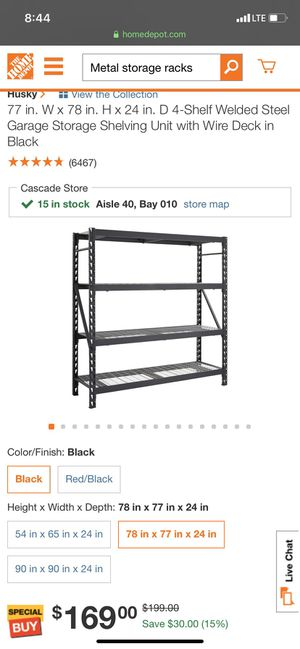 Storage shelves for sale for Sale in Smyrna, GA