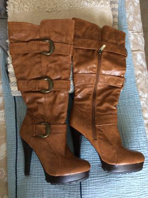 Anne Michelle caramel brown boots for Sale in Hoffman Estates, IL