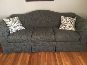 Beautiful custom made couch by basset! for Sale in Springfield, VA