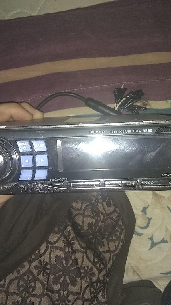 Alpine car cd stereo Bluetooth MP3 player