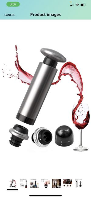 Wine saver vacuum pump with 2 wine bottle stopper for Sale in Miramar, FL