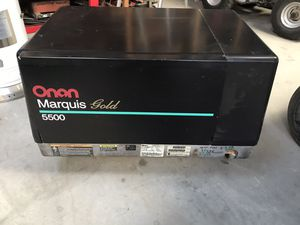 Oman 5500 generator ran great when it was removed from toy hauler,comes with remote switch too for Sale in Hickman, CA