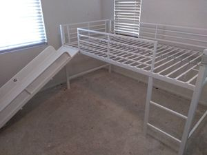 Bunk bed with slide and firetruck accessories for Sale in Encinitas, CA