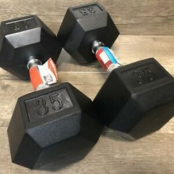 35lb Dumbbell Rubber Hex for Sale in Los Angeles,  CA