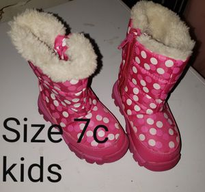 Pink Polka Dot Snow Boots size 7c kids for Sale in Renton, WA