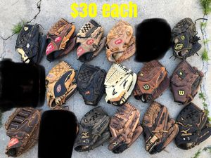 Baseball Gloves mizuno Easton Rawlings Wilson equipment bats A2000 heart of the hide for Sale in Culver City, CA