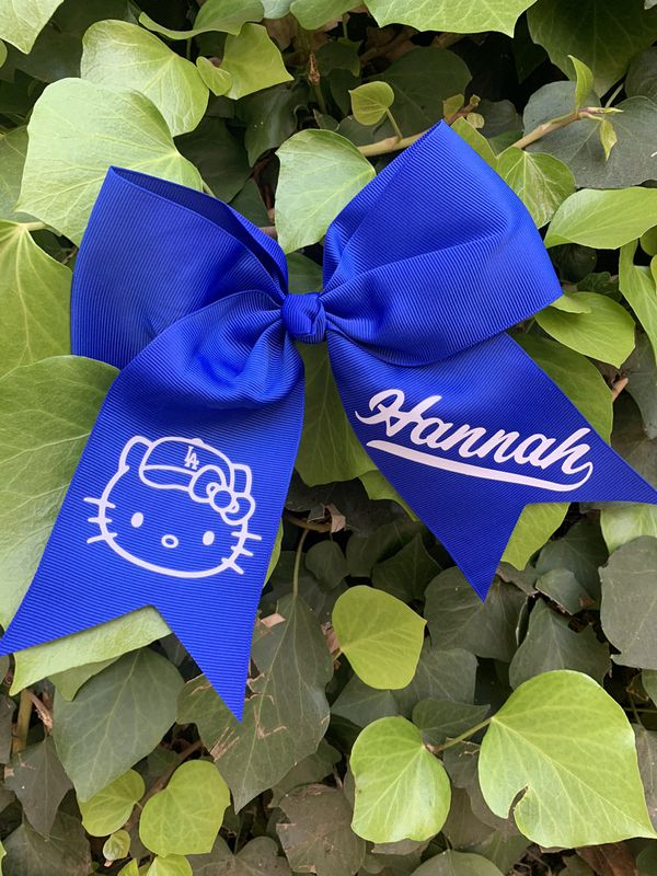 Dodger bows personalized