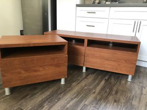 Cherry finish Bedroom Set (Nightstand and Chest of Drawers) for Sale in Los Angeles, CA