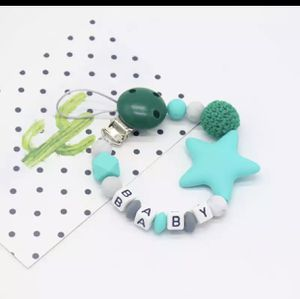 New Silicone Baby Pacifier Clips Letter Shape DIY Colorful Pacifier Chain for Baby Teething Soother Chew Toys Dummy Clip Holder for Sale in Woodbridge, VA