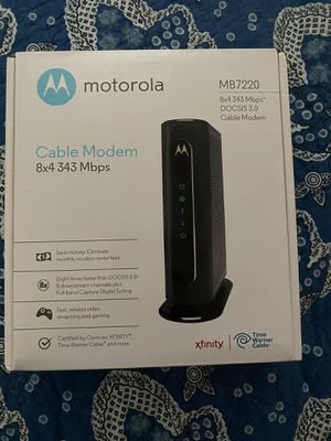 Motorola MB7220 cable modem like new for Sale in Tampa, FL