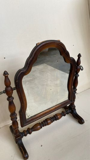Antique wood swivel table mirror-#3 for Sale in Joliet, IL