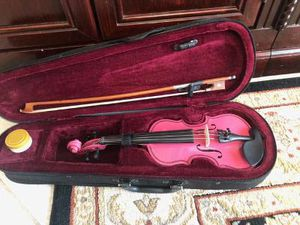 Small Pink Violin 1/16 size with case, bow, & Rosin Good Condition for Sale in Davie, FL