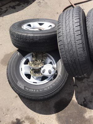Toyota tacoma rims /wheels and tires 245/75/r16 for Sale in San Diego, CA