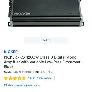 Kicker 1200.1 for Sale in Virginia Beach, VA